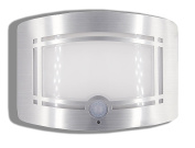 Motion Sensor Auto LED Night Light - Soft Warm White Wireless Wall Sconce Light Controlled by Motion Activated Sensing & Light Sensor - Stick on Anywhere Wireless Battery Powered