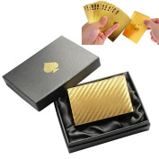 LLF 100 Euros Pattern Playing Cards Tablet Games Pokers With Black Wooden Box Colour