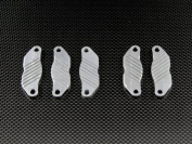 GPM Racing #LO5T041AS Aluminium Dual Brake Pads - 5pcs Silver for Team Losi 5IVE-T, Model