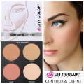 City Colour Contour & Define Palette Contouring Kit Bronzer Blush Highlighter