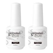 Beauty Space Soak Off UV LED Gel Nail Polish Top Coat and Base Coat Set 15ml Nail Art Kit Manicure Nail Care Set