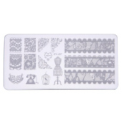 Alonea DIY Nail Art Image Stamp Stamping Plates Manicure Template