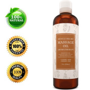 Muscle Pain Massage Oil - Muscle and Joint Pain Relief - Anti Cellulite Massage Oil for Men and Women - Aromatherapy Essential Oils for Healing - Deep Tissue Massage Lotion - Natural Anti Ageing Oil