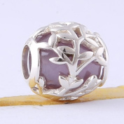 BEAUTY CHARM 925 Sterling Silver Grass Beads DIY Modern Charm