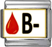 BLOOD GROUP TYPE b - Enamel Italian Charm 9mm Link - 1 x MA010 Single Bracelet Link