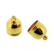 Jewellery Making End Caps - Bell End Cap 12x10mm, Inner Diameter 8.5mm, 20 Pcs