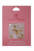 Buyless Fashion 14K Gold Plated 6 Pair Butterfly Backs Plus Bonus 6 Free Pairs Security Rubber Backs