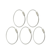 Gogoforward Stainless Steel Wire Keychains 1.5mm Cable Key Rings Pack of 5