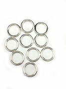 10 Sterling Silver Round Open Jump Rings 14.1mm 12 Gauge by Craft Wire