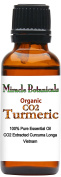 Miracle Botanicals Organic CO2 Extracted Turmeric Essential Oil - 100% Pure Curcuma Longa - Therapeutic Grade - 30ml