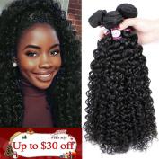 8A Brazilian Virgin Curly Hair 3 Bundles (12 14 41cm ) Remy Hair Extensions Natural Colour Brazilian Kinkys Curly Hair Real Human Hair Weave