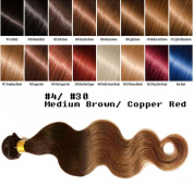 uSTAR 6A ombre Brazilian Human Hair BODY WAVE Bundle Best Quality Hair Weave Extension, 100% Human Hair GUARANTEED beautiful Dip Dyed Ombre Two-Tone Colour #4/#80cm - 60cm