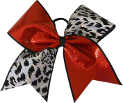 SBC Hologram Cheetah Tick Tock Cheer Bow