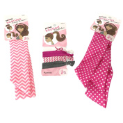 Scunci 2 Scarves and Knotted Ponytail Hair Holders Pink for Power Breast Canc...