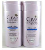 Travel Size CLEAR SCALP & HAIR™ Total Care Nourishing Shampoo and Conditoner, 50ml Each