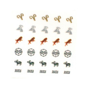 Stella Beauty Nail Art Sticker Set Zodiac 12 Packs in Different Designs