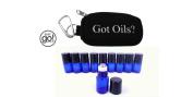 Got Oils. Key-chain & 10 Blue Sample Rollers