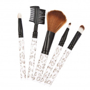 Susenstone® 5Pcs Leopard Acrylic Handle Makeup Brushes Cosmetic Brusher Set