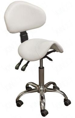 SkinAct® Esthetician Saddle Stool (White)