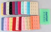 Ewandastore 22 pcs Assorted Colours Women 4-Hook 3 Rows Spacing Bra Extender Strap
