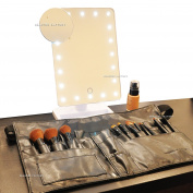 Beauties Factory Portable 20 LED Lighted Makeup Mirror Vanity W/ 10X Magnifier