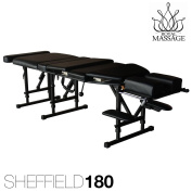 Sheffield 180 Elite Professional Portable Chiropractic Table - Charcoal