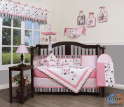 Boutique Baby New Pink Butterfly 13 Piece Nursery CRIB BEDDING SET