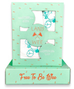 Land Of The Wee, Organic Bamboo Crib Sheet & Changing Table Cover (Blue), Perfect for girl or boy nursery