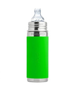 Pura Insulated Stainless Steel Toddler Bottle With Silicone Xl Sipper Spout & Sleeve, Green