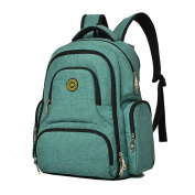 YuHan Oxford Baby Nappy Bag Backpack Nappies Pad Insulation Pocket Fit Stroller Green