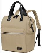CL Nappy Bag Travel Backpack Shoulder Bag with Baby Changing Pad - Khaki