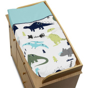 Blue and Green Modern Dinosaur Girls Boys Baby Changing Pad Cover