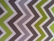 Portable Baby Changing Pad / Nappies Station | GREEN grey CHEVRON