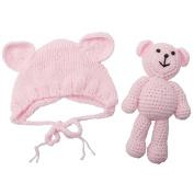 Tangc Newborn Baby Girl Boy Photography Prop Photo Crochet Knit Costume Bear +Hat Set