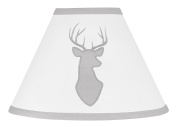 Grey and White Woodland Deer Boys Baby Childrens Lamp Shade
