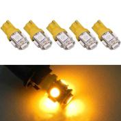 5-SMD 5050 LED Light bulbs,Tuscom@ 5PCS T10 5-SMD 5050 Xenon 3W LED Light Bulbs 192 168 194 W5W 2825 158