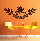 Wall Decal Sticker Bedroom kitchen restaurant tea coffee table cake cute 107b