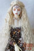 JD138 1/3 SD Long wave BJD doll wigs 8-9inch (21--23CM )princess back braid synthetic mohair Doll wig Blon Colour