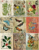 Assorted Vintage Ephemera Vintage Label Images #7 on Collage Sheet for Photo Art, Scrapbooking, Collage, Decoupage