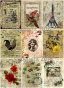 Assorted Vintage Ephemera Vintage Label Images #6 on Collage Sheet for Photo Art, Scrapbooking, Collage, Decoupage