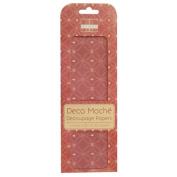 Hearts (Valentines) Deco Mache x 3 Paper Sheets Tissue Patch Craft Trimcraft