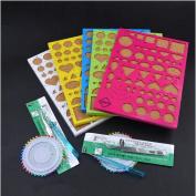 1 Set (4pcs/set) Paper Quilling Tool Kit Papercraft Tool DIY Handicraft Apply Mould Board