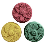 Rosettes (Three Flowers) Milky Way Soap Mould