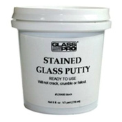 Glass Pro Stained Glass Lead Cement Putty Black 1/2 PINT (0.5kg) Ready to Use