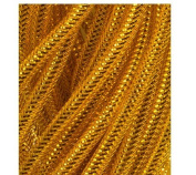 a\Decorative Mesh Tubing Gold 12 Yards for Wreaths, Centrepieces, Displays, Table Drapes and Glittery Accents