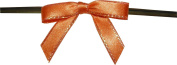 Small Orange Twist Tie Bows with Gold Edges- 250pc