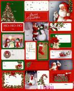 CHRISTMAS 100 PEEL 'N STICK GIFT TAGS
