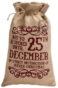Jute Not to be opened until 25th December Gift Bag