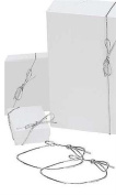 50 Silver 60cm Stretch Loops for Jewellery Boxes