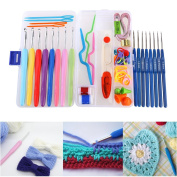 Crochet hook set VORCOOL 16pcs Soft Grip Handle Aluminium Crochet Hooks Knitting Needles